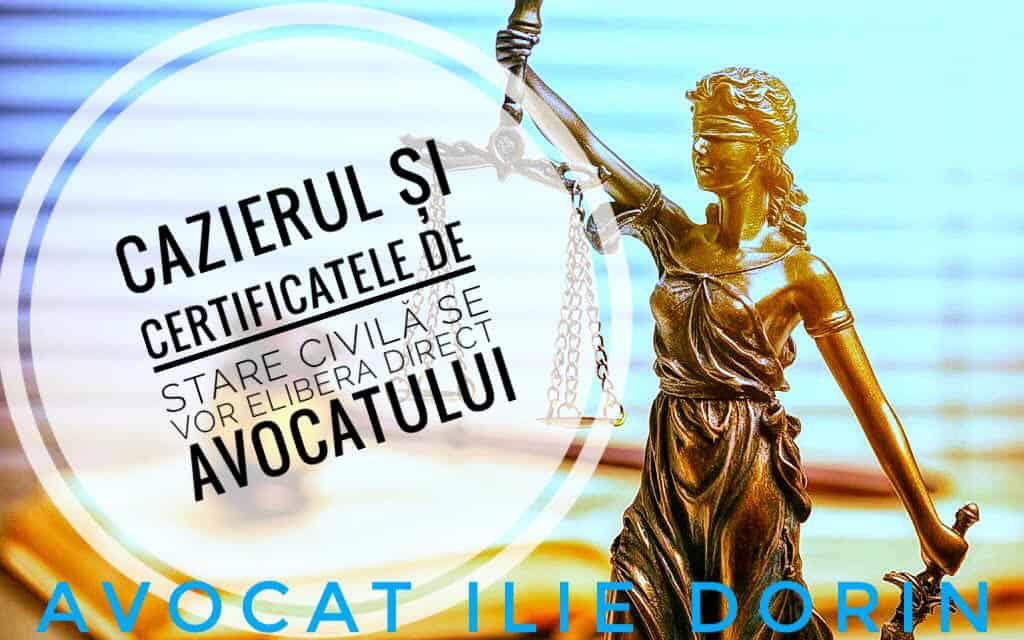 avocat acte de stare civila cazier